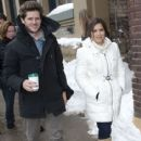 America Ferrera and her writer/director boyfriend Ryan Piers Williams strolled along Main Street in Park City, Utah