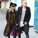 Ashlee Simpson and husband Evan Ross out shopping at OnePiece in West Hollywood, California on January 8, 2015