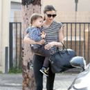 Miranda Kerr: headed into a Hollywood ballet class with her son Flynn