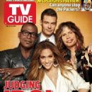 Ryan Seacrest, Steven Tyler, Randy Jackson, Jennifer Lopez, American Idol - TV Guide Magazine Cover [United States] (9 January 2012)