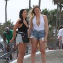 Iskra Lawrence – Films a Project at Venice Beach in LA