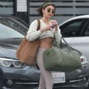 Sarah Hyland in Spandex – Hits the gym in Los Angeles