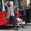 Sofia Carson – Descendants 2 promotion Aboard a London Bus