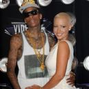 Amber Rose and Wiz Khalifa Attend the 28th Annual MTV Video Music Awards at the Nokia Theatre L.A. Live in Los Angeles, California -  August 28, 2011 - 434 x 594
