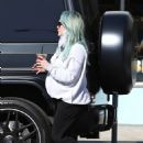Hilary Duff – Takes her daughter Banks out at McConnell's in Studio City
