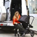 Hilary Duff takes her baby boy Luca shopping at a baby store in Studio City, California on November 28, 2012