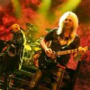 Rob Halford and Glenn Tipton of Judas Priest perform at The Pearl Concert Theater at the Palms Casino Resort on November 14, 2014 in Las Vegas, Nevada - 454 x 318