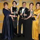 Michelle Dockery, Phyllis Logan, Sophie McShera, Allen Leech and Amy Nuttall - SAG Awards win