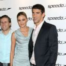Michael Phelps with girlfriend Megan Rossee at the Speedo Party at Kensington Roof Gardens (August 6)