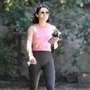 Lucy Hale – Heads out for a hike in Los Angeles