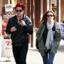 Logan Henderson, Kendall Schmidt, and Carlos Pena stepped out for lunch yesterday, October 9, in Vancouver. The boys are in Vancouver to film their TV movie.  Carlos brought along his girlfriend, Sammy Droke. No idea where James Maslow is but it looks lik - 396 x 594
