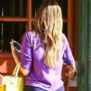 Sofia Vergara In Purple Yoga Pants In La