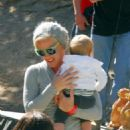 Pink cheering on Carey Hart at the Monster Energy Mammoth Motocross races (June 24)