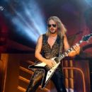 Richie Faulkner of Judas Priest performs on the final night of the band's Firepower World Tour at The Joint inside the Hard Rock Hotel & Casino on June 29, 2019 in Las Vegas, Nevada - 454 x 311