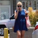 Busy Philipps in Blue Mini Dress out in Los Angeles - 454 x 681