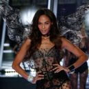 Victoria's Secret model Joan Smalls walks the runway during the 2014 Victoria's Secret Fashion Show at Earl's Court exhibition centre on December 2, 2014 in London, England