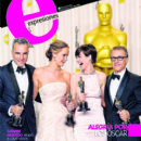 Daniel Day-Lewis, Anne Hathaway, Jennifer Lawrence, Christoph Waltz - Expresiones Magazine Cover [Ecuador] (26 February 2013)