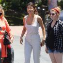 Selena Gomezin white outfit at Sony Studios in LA - 454 x 681