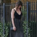 Daisy Lowe With her dog – Out in North London - 454 x 700