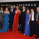 Deborah Snyder, Zack Snyder, Amy Adams, Ben Affleck, Gal Gadot, Henry Cavill, Holly Hunter, Jesse Eisenberg,  the producer Charles Roven and the composer Hans Zimmer - March 22, 2016-'Batman V Superman: Dawn of Justice' European Premiere - 400 x 251