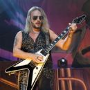 Richie Faulkner of Judas Priest performs on the final night of the band's Firepower World Tour at The Joint inside the Hard Rock Hotel & Casino on June 29, 2019 in Las Vegas, Nevada - 454 x 546