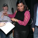 Mindy Kaling Night Out In Hollywood