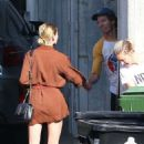 Amber Heard in Short Brown Dress – Out in Hollywood Hills
