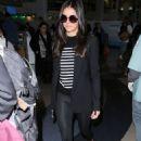 Nina Dobrev Travel Outfit – LAX in LA 1/4/ 2017