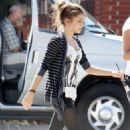 Sarah Hyland was spotted leaving her trailer, October 18, on the set of her show Modern Family in Los Angeles, CA