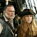 Kevin McNally as Gibbs and Keira Knightley as Elizabeth Swann in Walt Disney Pictures' Pirates of the Caribbean: Dead Man's Chest - 2006