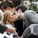 "Penn Badgley surprises girlfriend and ""Gossip Girl"" co-star Blake Lively with a passionate in between filming scenes in the Upper East Side"