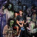 Haley Lu Richardson – Visits Knott's Scary Farm in Buena Park - 454 x 361