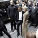 Amber Rose and Kanye West Arrive at the Chanel Haute Couture fashion show at Paris Fashion Week in Paris, France - January 26, 2010