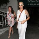 Amber Rose and Chris Brown's Mother Joyce at Madeo Restaurant in West Hollywood, California - June 5, 2014