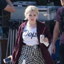 Abigail Breslin – On the Set of 'Scream Queens' in Los Angeles 9/1/2016 - 454 x 513