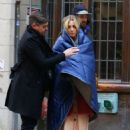 Kaley Cuoco – On the set of 'The Flight Attendant' in NYC