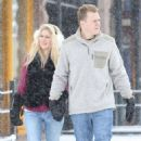 Heidi Montag and Spencer Pratt spotted out for a stroll on a snowy day in Aspen, Colorado on December 28, 2014