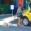 Vanessa Hudgens Walking Her Dogs