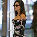 Kourtney Kardashian in Floral Mini Dress – Out in Los Angeles