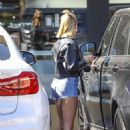Hailey Baldwin – In denim shorts out for lunch in Hollywood