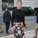 Rosamund Pike – Arriving at BBC Radio Two Studios in London