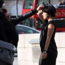 Lily Allen During A Photoshoot In Paris, Place Vendôme, 2009-03-11