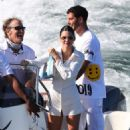 Kendall Jenner – Gets on a boat with friends to celebrate the 4th of July in Malibu