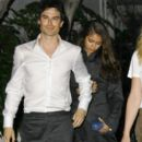 Nina Dobrev and Ian Somerhalder leaves Paleyfest 2012
