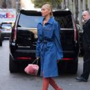 Elsa Hosk in Long Jeans Coat – Out in NYC - 454 x 584