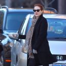Emma Stone was spotted out and about in New York City, February 17