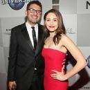 Sam Esmail and Emmy Rossum At The 73rd Golden Globe Awards (2016)