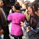 Lea Michele Leaving BBC Radio 2 studios in London - 454 x 681