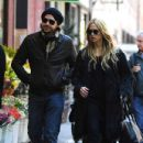 Rachel Zoe: a stroll this afternoon in Soho