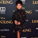 Logan Browning – 'The Lion King' Premiere in Hollywood - 454 x 681